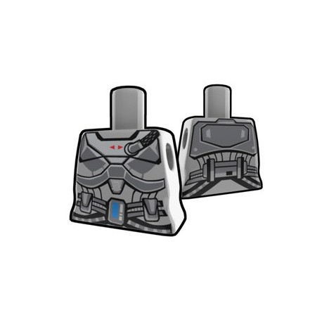 Lego Minifig Custom AREALIGHT Torse féminin Gray Shae's torso (La Petite Brique) Star Wars