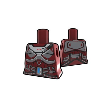 Lego Minifig Custom AREALIGHT Torse féminin Dark Red Shae's torso (La Petite Brique) Star Wars