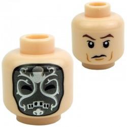 Lego Accessoires Minifig - Tête masculine, chair, 32 (double visage) (La Petite Brique)