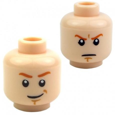 Lego Accessoires Minifig - Tête masculine, chair, 27 (double visage) (La Petite Brique)