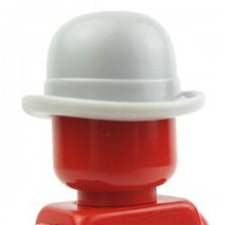 Lego Accessoires Minifig Chapeau melon (Light Bluish Gray) (La Petite Brique)