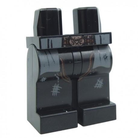 Lego Accessoires Minifig - Jambes - cowboy usé (Noir) (La Petite Brique)
