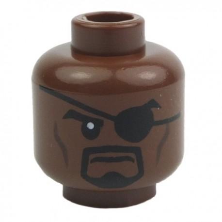 Nick Fury Head (Dark Brown)