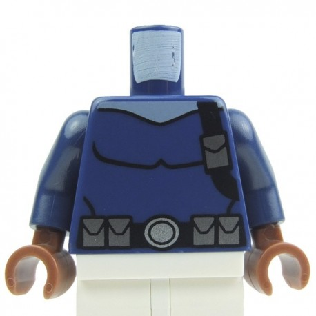 Dark Blue Torso Holster, Belt, pouch, Brown hands