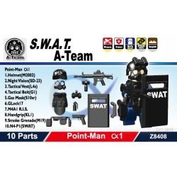 Lego Sidan Toys S.W.A.T. A-Team (Point Man Alfa 1) Pack (10 pièces) (noir) La Petite Brique