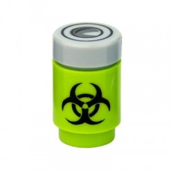 Lego Custom Minifig Accessoires CUSTOM BRICKS Bio Hazard Canister (Lime with top) (La Petite Brique)