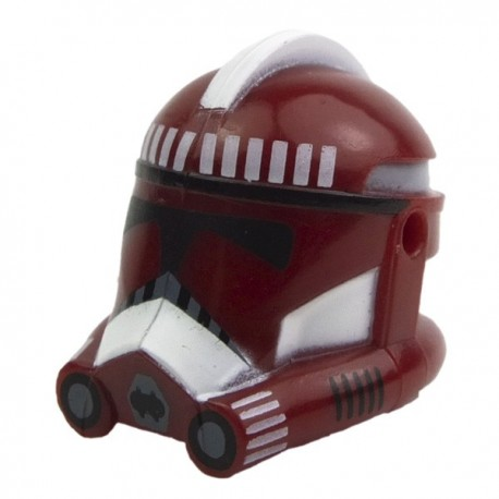 Lego Accessoires Minifig CLONE ARMY CUSTOMS Casque Clone Phase 2 Fox Dark Red (La Petite Brique) Star Wars