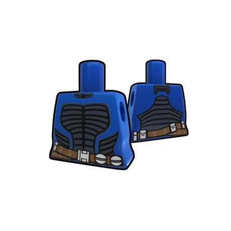 Lego Minifig Custom AREALIGHT Torse féminin Bleu avec tenue de Eleena (La Petite Brique) Star Wars
