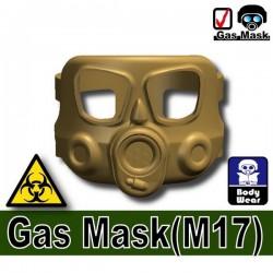 Lego Custom Si-Dan Toys Masque à gaz M17 (Dark Tan) (La Petite Brique)
