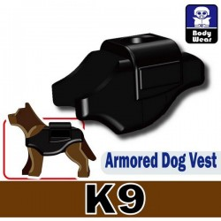 Armored Dog Vest (K9) (Black)