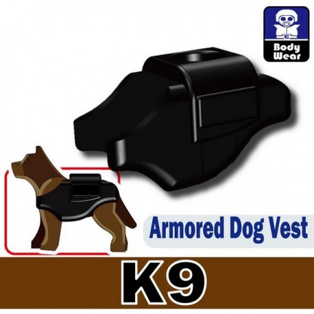 Lego Custom Minifig Si-Dan Toys Armored Dog Vest (K9) (noir) (La Petite Brique)