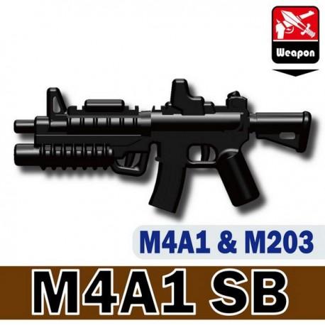 Lego custom minifig Si-Dan Toys M4A1 SB (noir) (La Petite Brique)