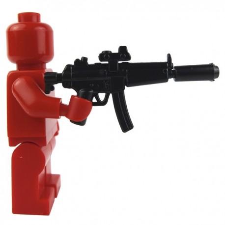 Lego Minifig Si-Dan Toys MP5A5 NAVY + TROS-BG5x + Silencer (noir) (La Petite Brique)