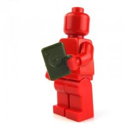 """Lego Custom Minifig Si-Dan Toys mPad (vert """"tank"""") (La Petite Brique)"""