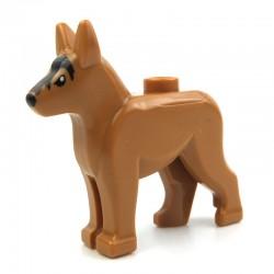 Medium Dark Flesh Dog Alsatian, German Shepherd with Black Eyes