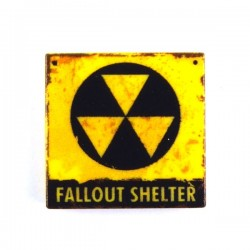 "Lego Custom Minifig eclipseGRAFX Fallout Shelter Sign ""sale"" (Tile 2x2) (La Petite Brique)"