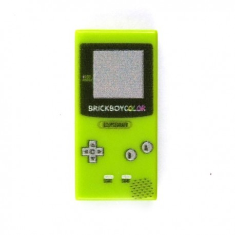 Lego Custom Minifig eclipseGRAFX Game Boy Lime Green (Tile 1x2) (La Petite Brique)