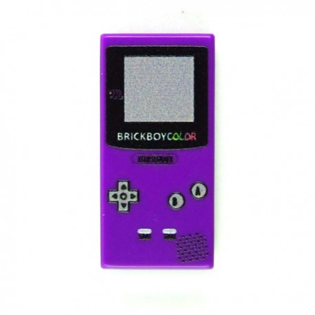 Lego Custom Minifig eclipseGRAFX Game Boy Purple (Tile 1x2) (La Petite Brique)