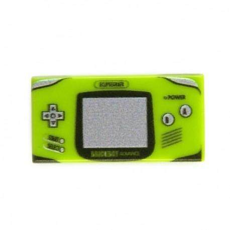 Lego Custom Minifig eclipseGRAFX Game Boy Advance Lime Green (Tile 1x2) (La Petite Brique)