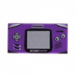 Lego Custom Minifig eclipseGRAFX Game Boy Advance Purple (Tile 1x2) (La Petite Brique)