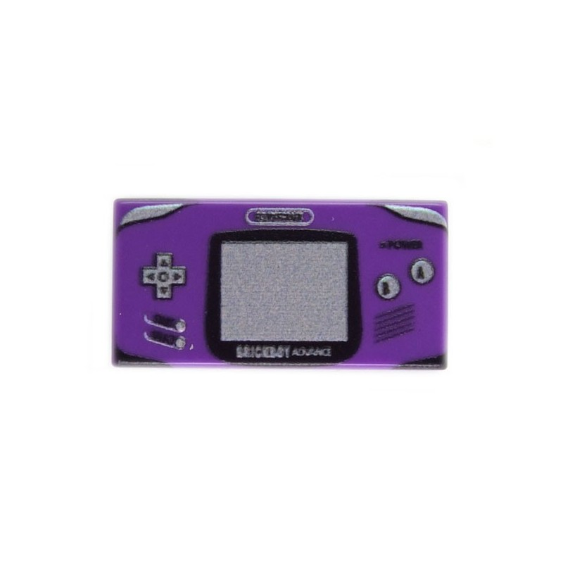 Lego eclipseGRAFX Custom Minifig - Game Boy Advance Purple (Tile 1x2) (La  Petite Brique)