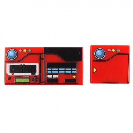 Lego Custom Minifig EclipseGRAFX Monsterdex (Tile 1x1 + 1x2) (La Petite Brique)