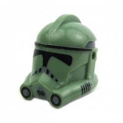 Lego Minifig CLONE ARMY CUSTOMS Casque Clone Phase 2 Trooper (Sand Green) (La Petite Brique) Star Wars