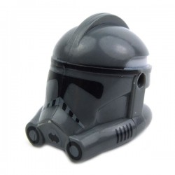 Lego Minifig CLONE ARMY CUSTOMS Casque Clone Phase 2 Trooper (Dark Bluish Gray) (La Petite Brique) Star Wars