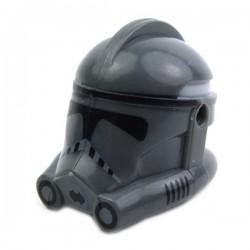 Lego Minifig CLONE ARMY CUSTOMS Casque Clone Phase 2 Trooper (Dark Bluish Gray) (La Petite Brique) Star Wars
