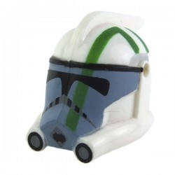 Lego Minifig CLONE ARMY CUSTOMS Casque Arc Trooper Blitz (Green print) (La Petite Brique) Star Wars