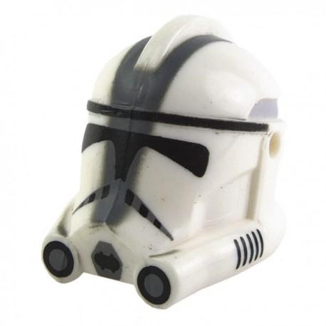 "Lego Minifig CLONE ARMY CUSTOMS Casque Clone Phase 2 ""501st"" Trooper (Dark Bluish Gray) (La Petite Brique) Star Wars"