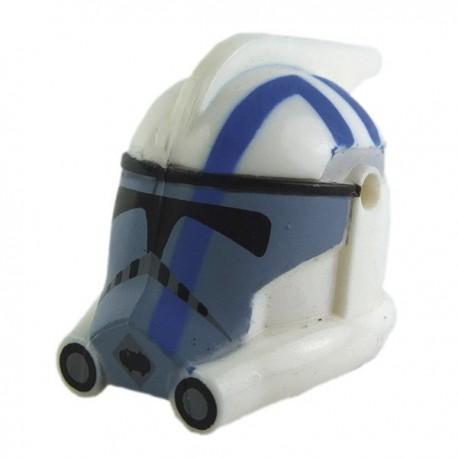 Lego Minifig CLONE ARMY CUSTOMS Casque Arc Trooper Blitz (Blue print) (La Petite Brique) Star Wars