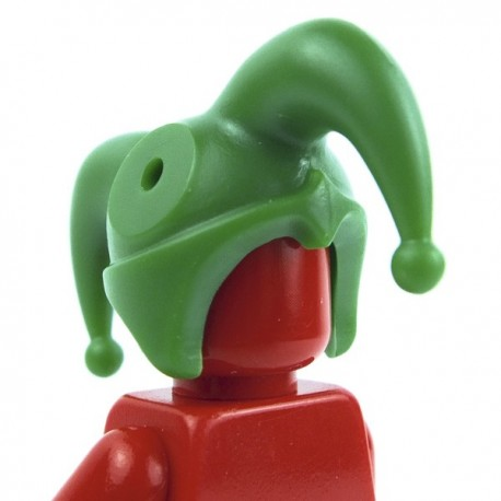 Lego Custom Accessoires Minifig BRICK WARRIORS Chapeau de bouffon (vert) (La Petite Brique)