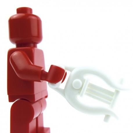 Lego Custom Accessoires Minifig BRICK WARRIORS Lyre (blanc) (La Petite Brique)