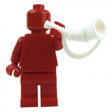 Lego Custom Accessoires Minifig BRICK WARRIORS Battle Horn (Blanc) (La Petite Brique)