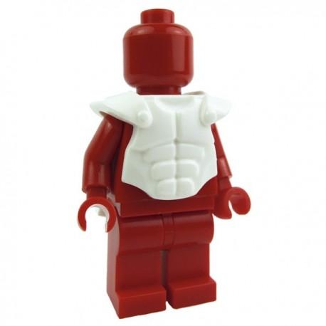 Lego Custom Accessoires Minifig BRICK WARRIORS Cuirasse musclée (blanc) (La Petite Brique)