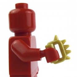 Lego Custom BRICK WARRIORS Poing américain / Cestus (Pearl Gold) La Petite Brique