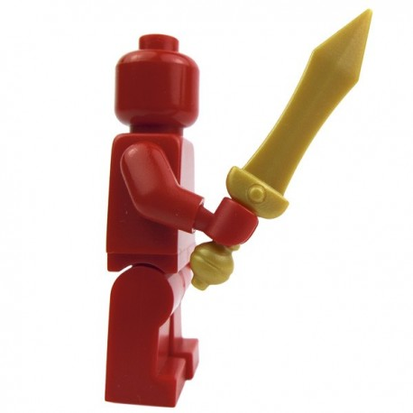 Lego Custom BRICK WARRIORS Epée Gladius (Pearl gold) La Petite Brique