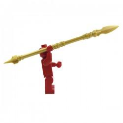 Lego Accessoires Minifig Custom BRICK WARRIORS Lance Sarissa (Pearl Gold) La Petite Brique