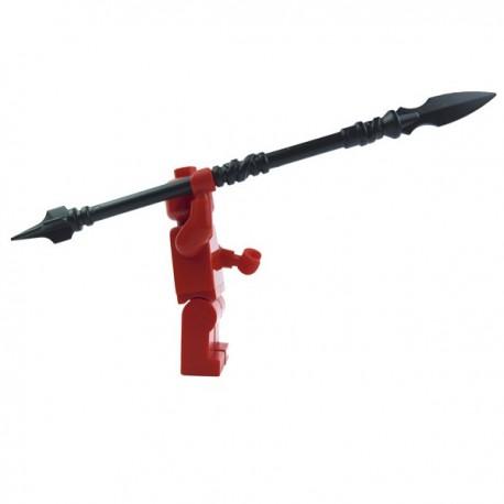 Lego Accessoires Minifig Custom BRICK WARRIORS Lance Sarissa (noir) La Petite Brique