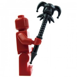Lego Accessoires Minifig Custom BRICK WARRIORS Jester Staff (noir) La Petite Brique