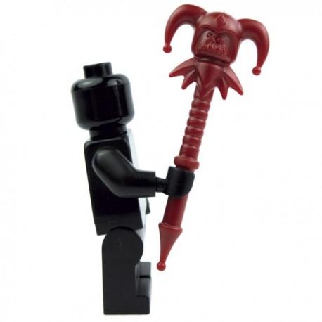 Lego Accessoires Minifig Custom BRICK WARRIORS Jester Staff (rouge foncé) La Petite Brique