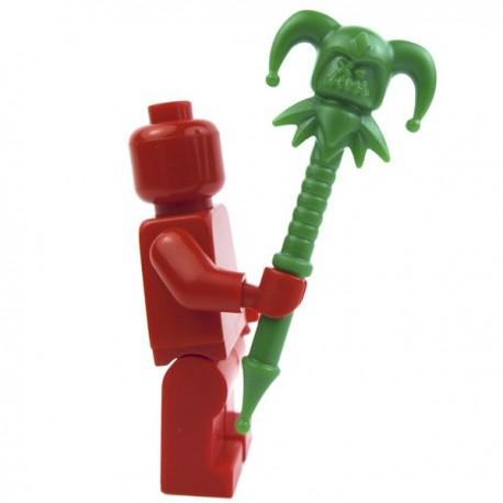 Lego Accessoires Minifig Custom BRICK WARRIORS Jester Staff (vert) La Petite Brique