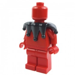 Lego Accessoires Minifig Custom BRICK WARRIORS Collier de bouffon (Noir) La Petite Brique
