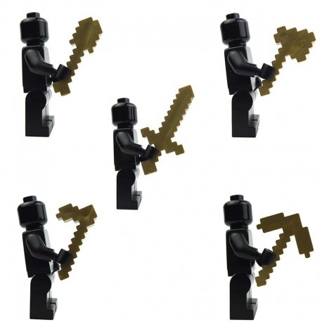 Lego Accessoires Minifig Custom X39 Ultimate Craftsmen Tools – Pack (Metallic Gold) (La Petite Brique)