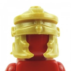 Lego Custom Accessoires Minifig BRICK WARRIORS Casque Romain (Pearl Gold) (La Petite Brique)