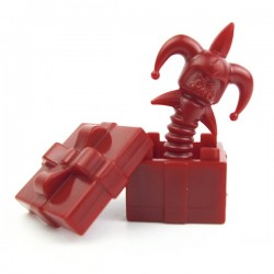 Lego Custom Accessoires Minifig BRICK WARRIORS Death in the Box (Dark Red) (La Petite Brique)