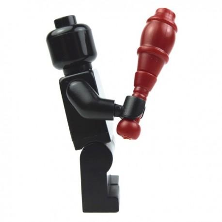 Lego Custom Accessoires Minifig BRICK WARRIORS Juggling Pin (Rouge foncé) (La Petite Brique)