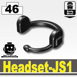 Lego Accessoires Minifig Si-Dan Toys Headset-JS1 (Pearl Dark Black) (La Petite Brique)