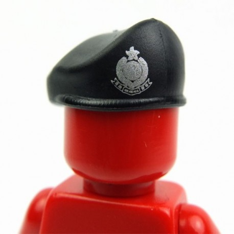 Lego Accessoires Minifig Si-Dan Toys Beret avec insigne (noir) (La Petite Brique)